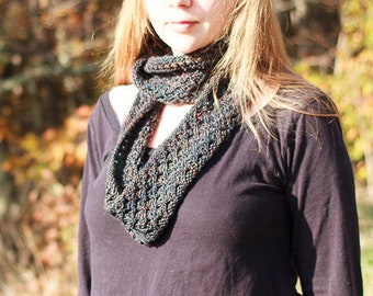 Knitting Pattern, Appalachia Lace Cowl / One Skein Cowl Knitting Pattern