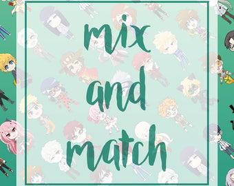 Mix and Match Glossy Sticker Set