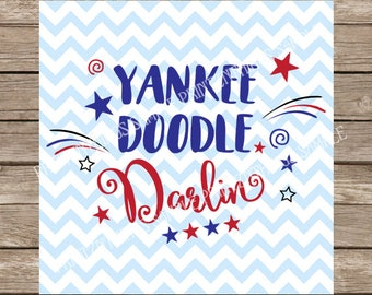 Yankee Doodle Darling svg, 4th of July svg, 4th of July, Baby svg, Newborn svg, New baby, American svg, Patriotic svg, Fourth of July svg