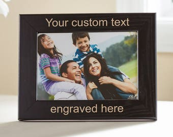Personalized frame etsy create your own personalized picture frame black design your own picture frame negle Images