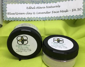 Blue-Green and Lavender Clay Mask