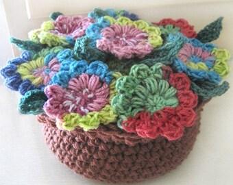 Potpourri Flower Pot - PDF Crochet Pattern - Instant Download