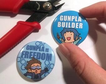 Pin Set - Gundam Build Fighters Sei Iori Meijin Kawaguchi