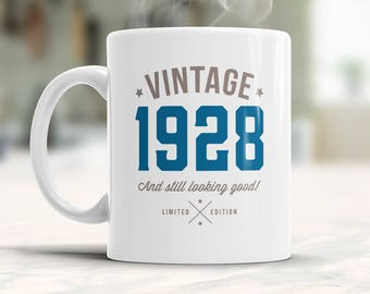 90th Birthday, 1928 Birthday, 90th Birthday Gift, 90th Birthday Idea, Vintage, 1928, Happy Birthday, 90th Birthday Gift for 90 year old