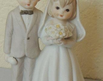 1982 Lefton Bride and Groom Figurine/Cake Topper