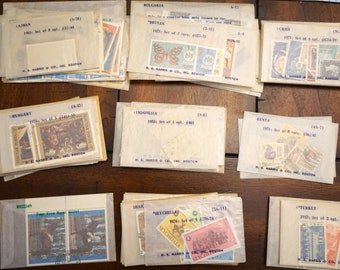 Vintage Postage Stamps from 52 Countries 1960s- 1970s from H.E. Harris & Company - Big Lot