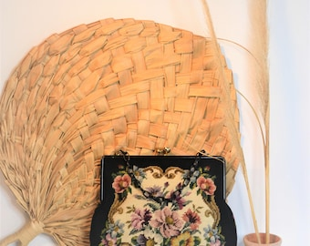 Oversized Needlepoint Purse // Boho Bag // Granny Chic Purse
