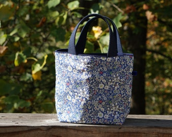 Mini size Liberty tote bag / diaper bag / daycare bag / shopping bag / daughter bag