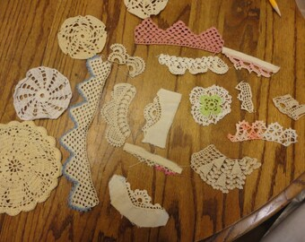 Vintage Crochet Pieces- 18 pieces
