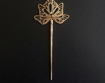 Seraph Hair Stick, Bronze, handmade by Jamie Spinello