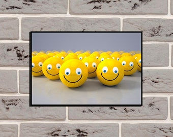 Smilies Poster Children art Smilies poster Colorful art Smilies decor Smilies print Smilies art Smilies multicolor Home decor Gift Picture