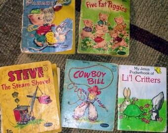 5 Vintage Whitman Tiny Tales Books