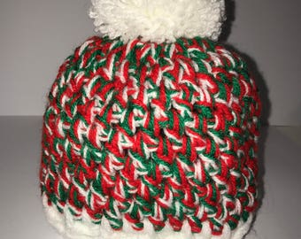 Christmas colours hat