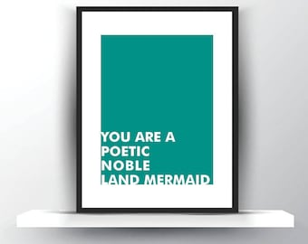 Parks and Recreation Art - Leslie Knope - Land Mermaid - Parks and Rec - Compliment - Best Friend Card - Feminist Art - Female Empowerment