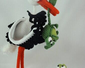 Amigurumi Crochet Pattern - Stuart the Stork & Snoggy Froggy - English Version