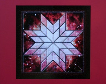 WINDOW INTO CHAOS - Blazing Star Nova patterns a cosmic Window into the heart of Outer Space - Digital Art - Artist's Proof - ready to frame