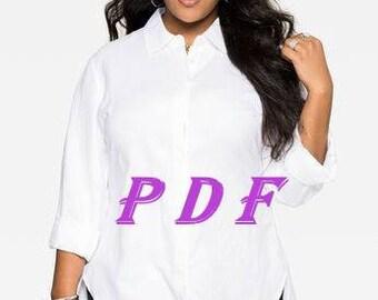 Digital Pattern -PDF Sewing Pattern-bigger size