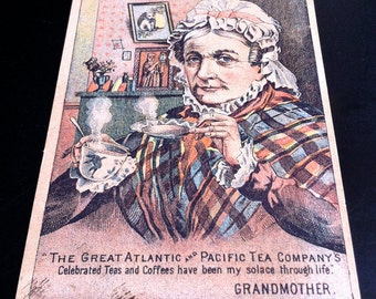 1883 Great Atlantic & Pacific Tea Co. Trade Card, Grandmother