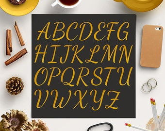 BUY5FOR8 Gold Foil Alphabet Clipart, Gold Foil Uppercase Letters, Gold Wedding Letters, Alphabet Clipart, Instant Download