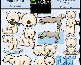The Life Of A Polar Bear Clip Art Bundle