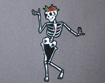 Day of the Dead Dancer with Heart #132