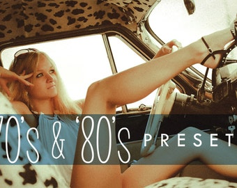 70s and 80s - 20 Retro Inspired Lightroom Presets