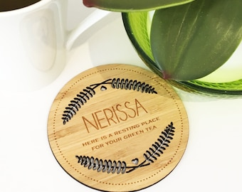 Personalised Resting Place Drink Coaster
