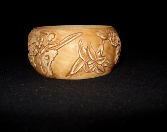 REDUCED Carved Bangle