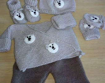 Life jacket pants Hat mittens and booties baby 0/3 months