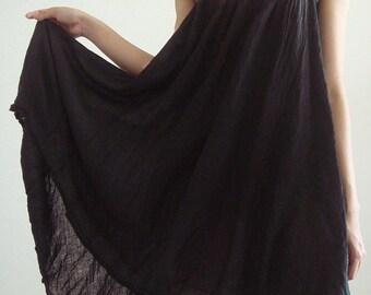 ON SALE 30% off, D10, Swan Cotton, Dark brown dress