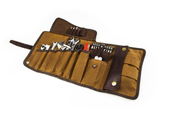 Sale 10 Universal Tool Roll Tool Roll Camel Waxed Canvas