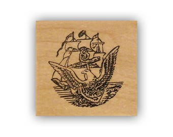 United States Navy Emblem mounted rubber stamp, USN, military, Crazy Mountain Stamps #4