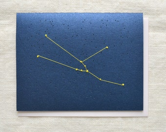 Taurus Constellation Embroidery - Zodiac Card
