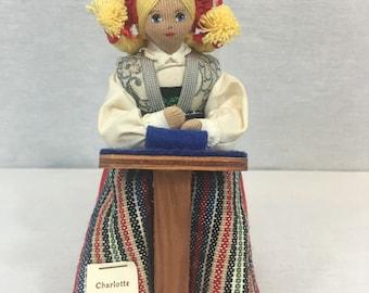 """Charlotte Weibull Swedish 8"""" Handmade Doll"""