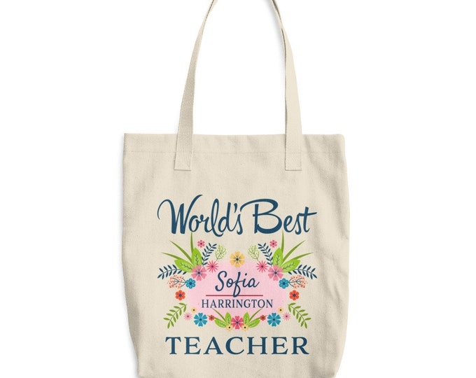 Teacher Tote Bag, Teacher Gift, Teacher Tote, custom tote, custom tote bag, gift for teacher, Teacher Appreciation, personalized gift