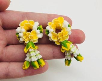 Miniature Duo Flower Rope,Miniature Jewelry,Miniature flower, Miniature accessory