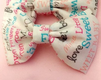 infant/toddler fabric bows headbands or clips