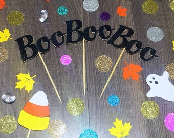 Boo Halloween Cupcake Toppers/Halloween Cupcake Toppers/BOO Toppers