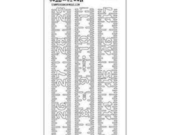 Tim Holtz Stencil - MEASURED THS012 Ruler STENCIL - SS054