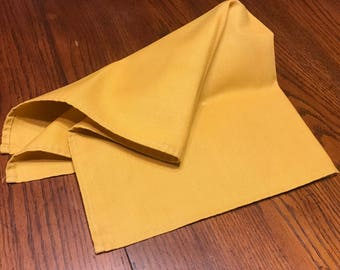 Vintage Linens One Lonely Single Gold Linen Napkin 19 x 19 Square Orphan