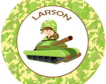Kids Camo Plate - Army dinnerware - Kids Gifts