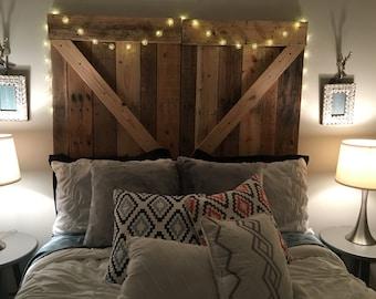 Amazing Rustic Barn Door Headboard Or Wall Art   The Emily   Free Shipping