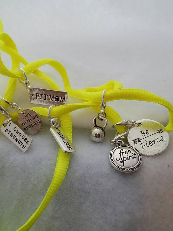 Zipper Pulls, Shoe Tags, Shoe Lace Charm, Shoelace Charms, CrossFit Jewelry, Sports Jewelry, Inspirational Shoe Lace Tags, Gifts for Runners