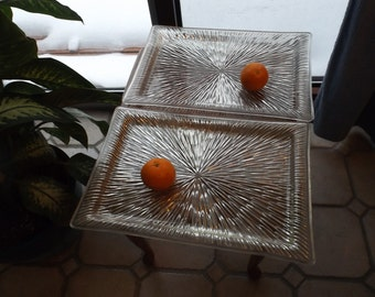 """Lot of 2 Large trays.Choice.  18.5"""" x 12.5"""" x 3/4""""  . Clear"""