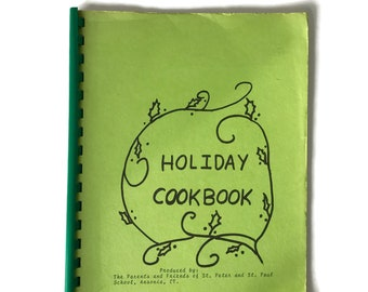 Vintage Local Cookbook Holiday Cookbook, Ansonia Connecticut, Regional Cooking, Fundraising Cookbook, Dessert Recipes, Holiday Cookies