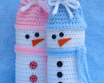 Snowman Wine Bottle Bag