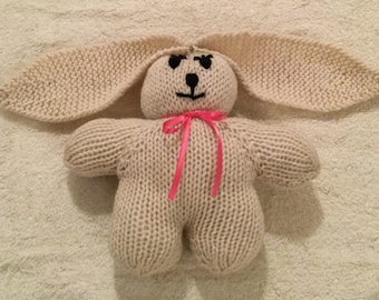 Knitted Bunny, cream