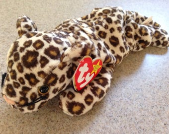 Vintage 1996 Ty Freckles the Leopard Beanie Baby