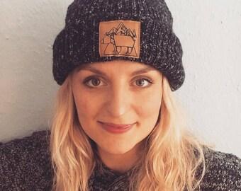 """Warm wool cap """"Siberian Bear"""""""