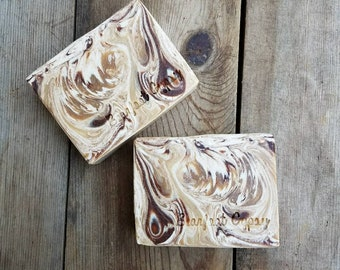 Goats Milk Soap - Vanilla Patchouli - with Organic Cacao - 100% Natural - Body Wash - Essential Oil - Natural Soap - Palm Free Soap
